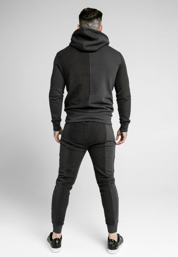 SIKSILK HALF OVERHEAD HOODIE - Bluza z kapturem - washed grey/szary Odzież Męska KTSQ