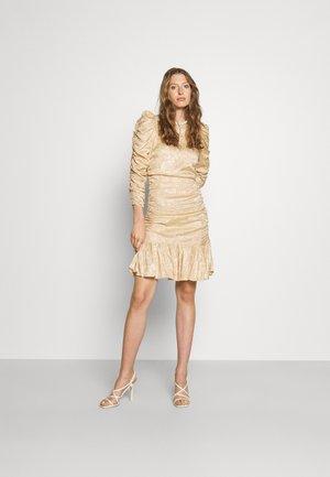 JACQUARD MINI DRESS - Cocktail dress / Party dress - sand