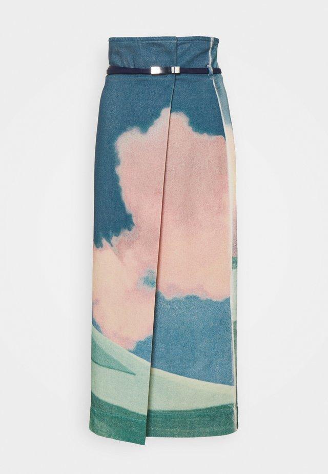 FACHIRO - Denimová sukně - creme