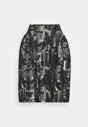 REMONCE SKIRT - A-line skirt - hazelnut/black/white
