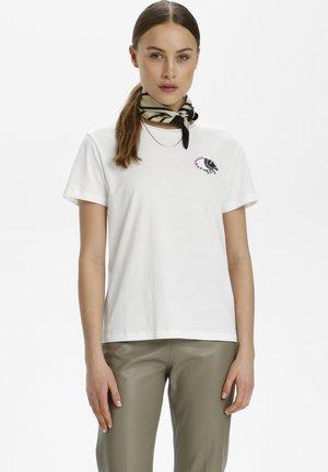 Camiseta estampada - broken white