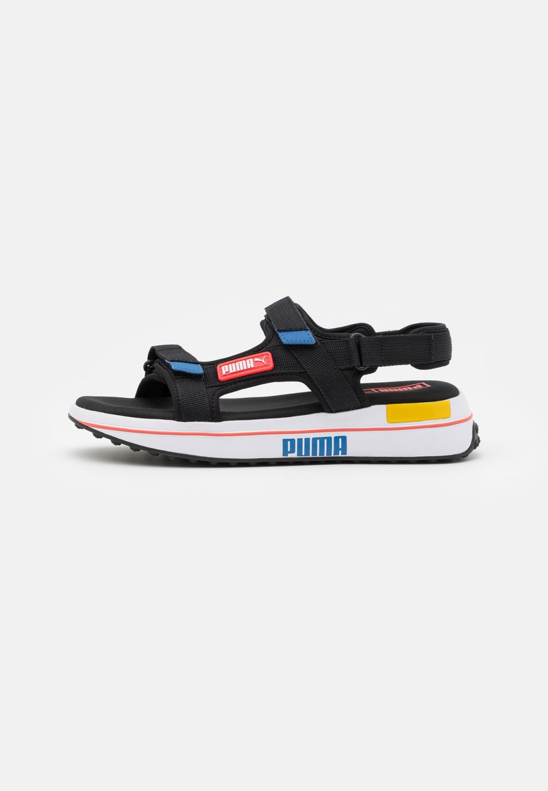 Puma - FUTURE RIDER UNISEX - Walking sandals - black/star sapphire/poppy red