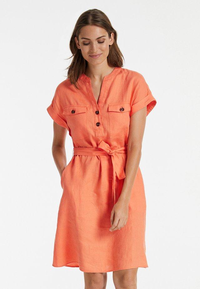 Korte jurk - papaya