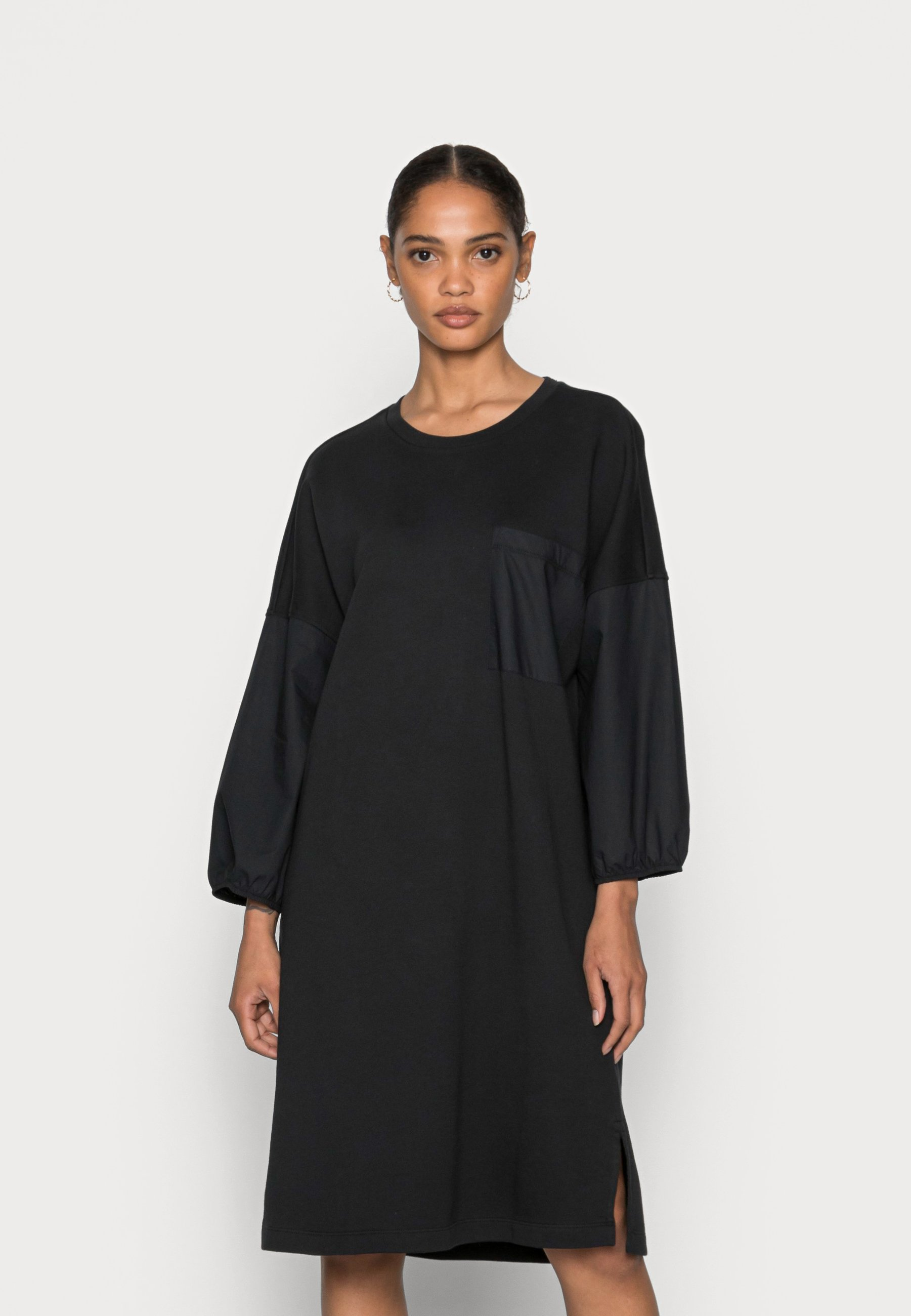 Women DRESS LONG SLEEVE PATCHED POCKET - Day dress