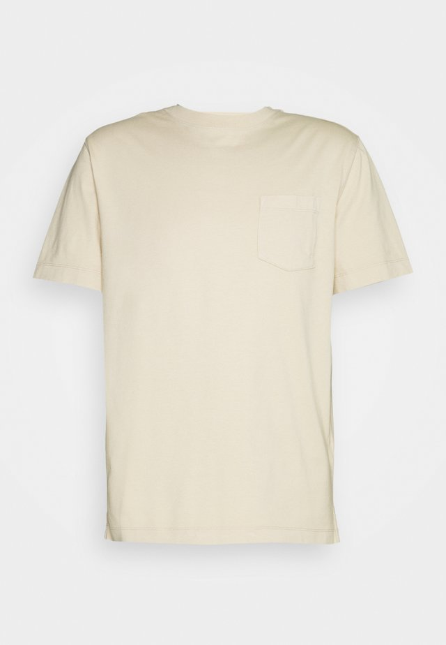 AUTHENTIC DYE POCKET CREW - T-shirt basic - baja sand