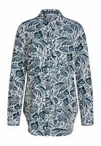 Oui - Button-down blouse - white blue - 5