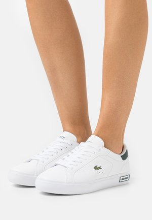 POWERCOURT - Sneakersy niskie - white/dark green