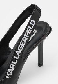 KARL LAGERFELD - GALA TAPE SLING - Klasické lodičky - black - 6