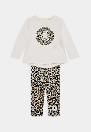 LEOPARD SET - Legíny - off white/beige