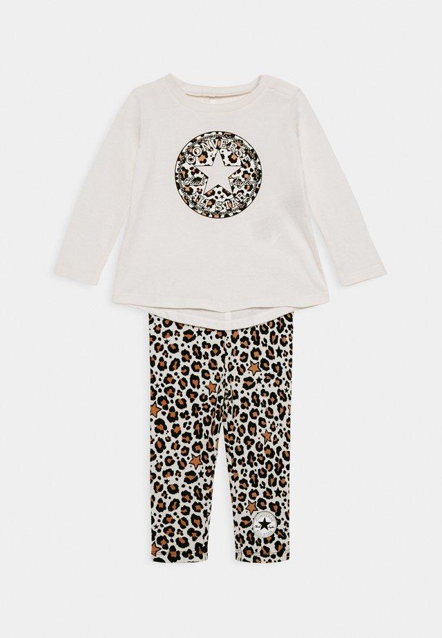 LEOPARD SET - Leggings - Trousers - off white/beige