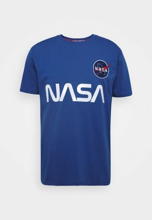 NASA REFLECTIVE TEE - Print T-shirt - blue
