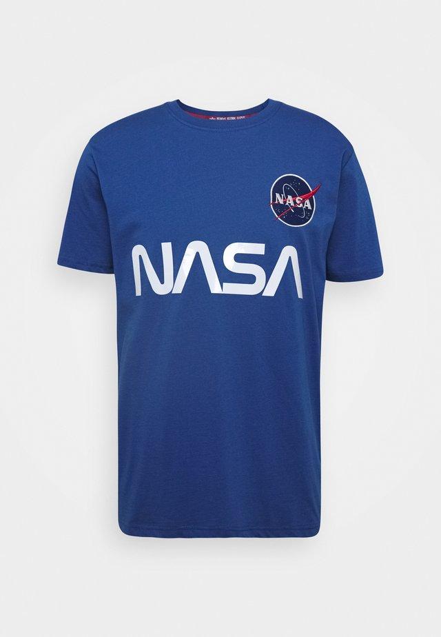NASA REFLECTIVE TEE - Triko spotiskem - blue