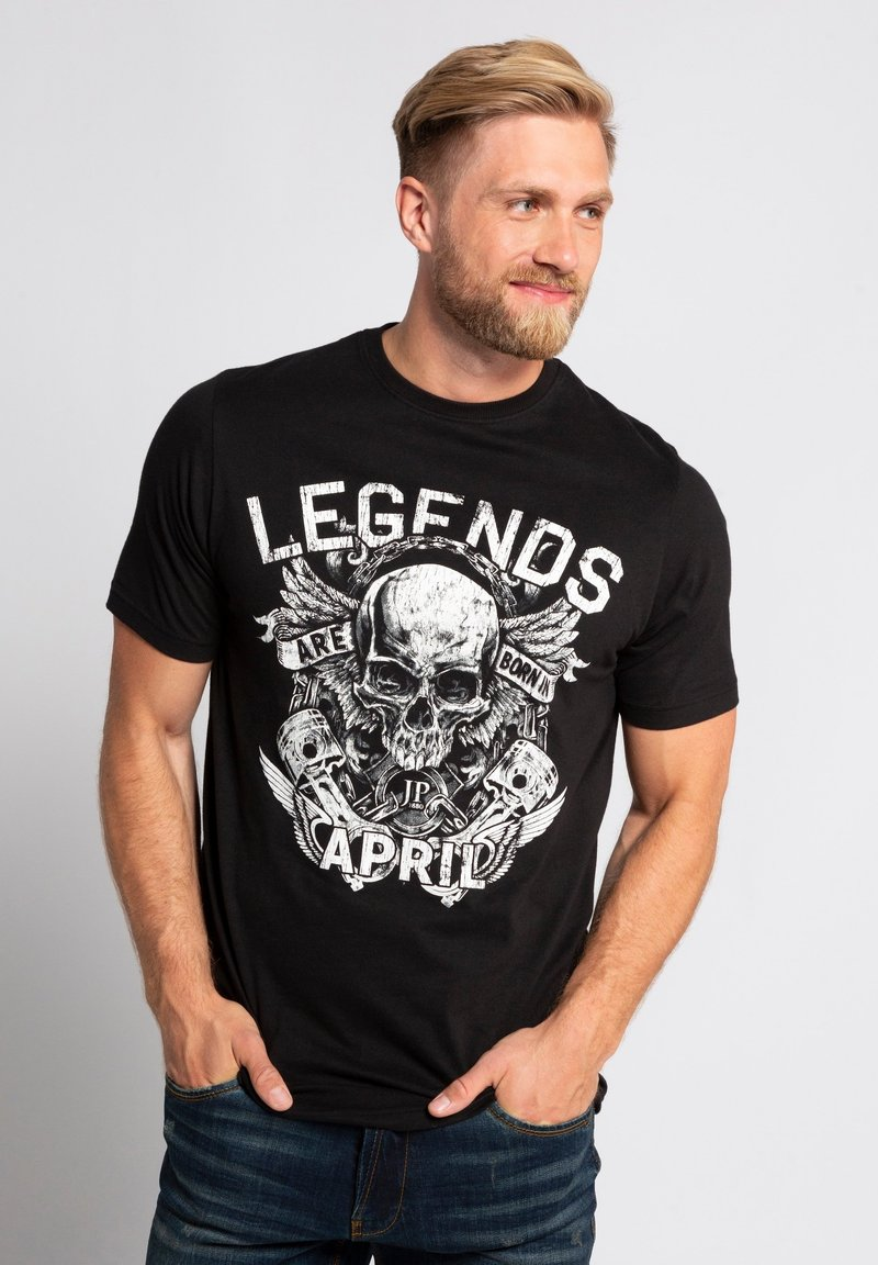 JP1880 - Print T-shirt - schwarz