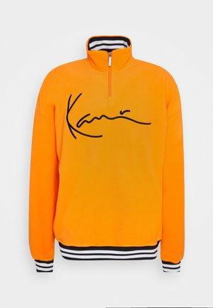 SIGNATURE TROYER - Fleece jumper - orange