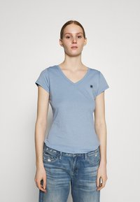 G-Star - EYBEN SLIM V T WMN S\S - T-shirts - delta blue - 0