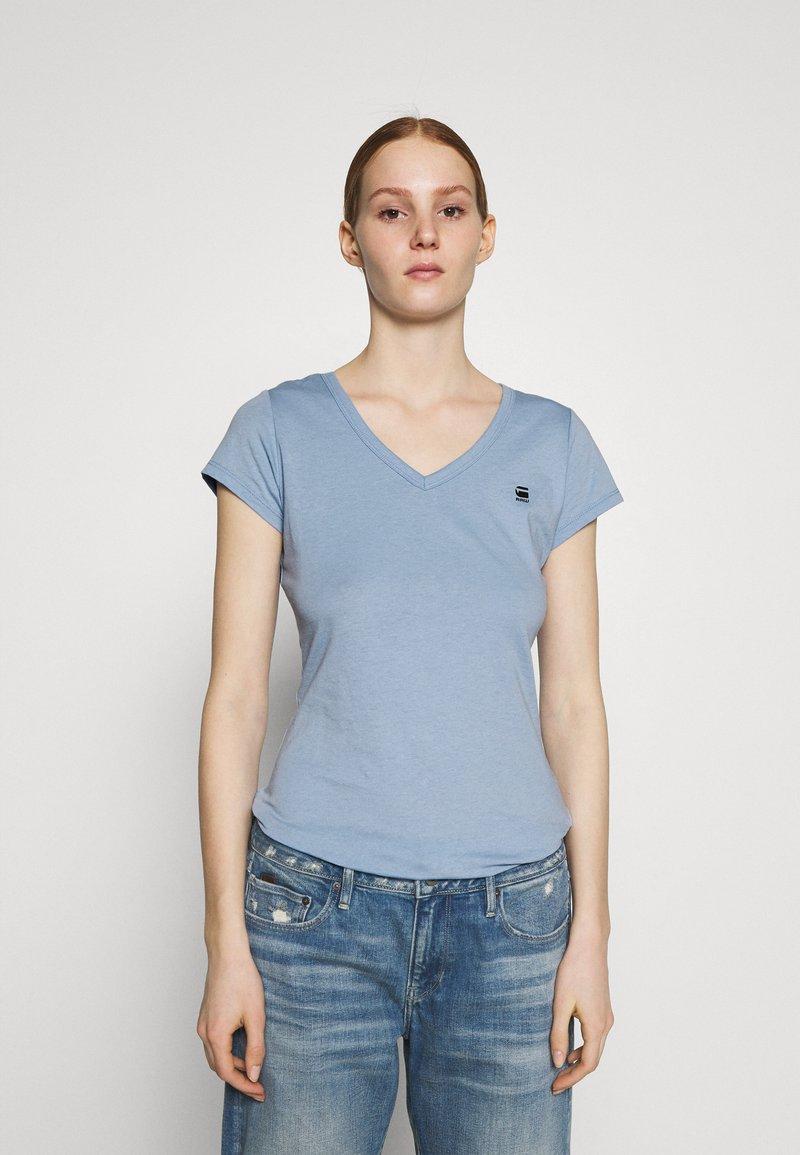 G-Star - EYBEN SLIM V T WMN S\S - T-shirts - delta blue