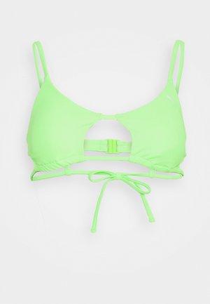 SWIM WOMEN PEEK A BOO - Bikini top - neon green