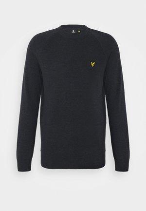 RAGLAN TEXTURE JUMPER - Stickad tröja - dark navy