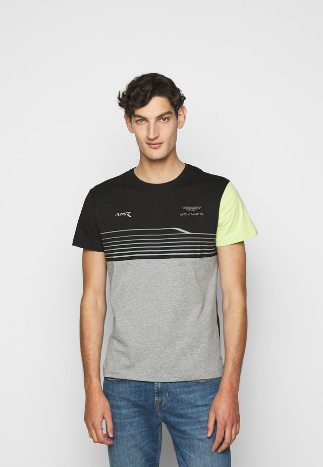 STRIPE TEE - T-Shirt print - black/grey
