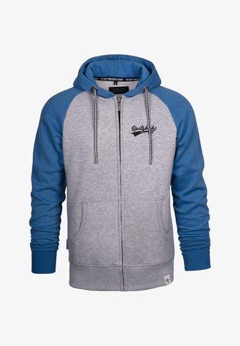 Zip-up sweatshirt - blau/grau