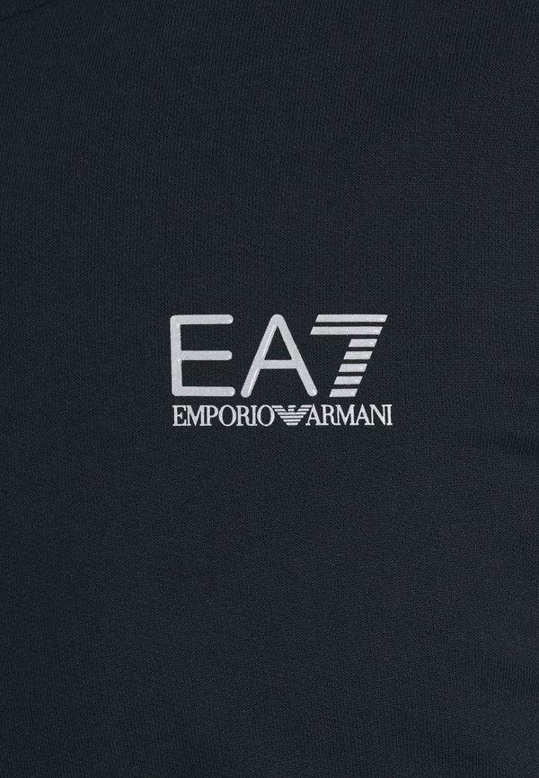EA7 Emporio Armani Bluza z kapturem - dark blue/silver/granatowy Odzież Męska QQIP