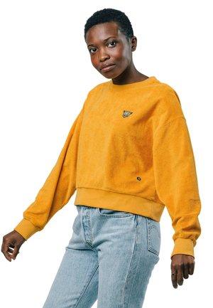 LEO TOWEL - Sweatshirt - yellow
