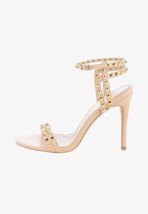 OLBA - Sandały na obcasie - beige