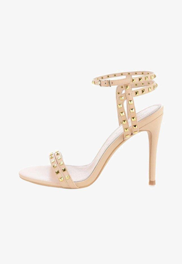 OLBA - Sandales à talons hauts - beige