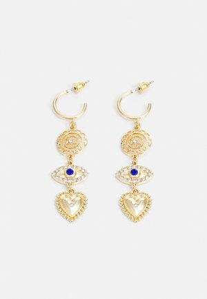 WIN EYE CHARM DROP - Earrings - gold-coloured