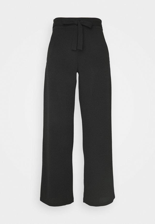 JDYCURLEY CATIA WIDE PANT - Pantalon classique - black