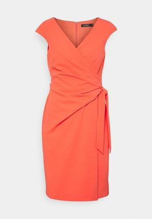 LUXE TECH CREPE DRESS - Cocktail dress / Party dress - regal coral