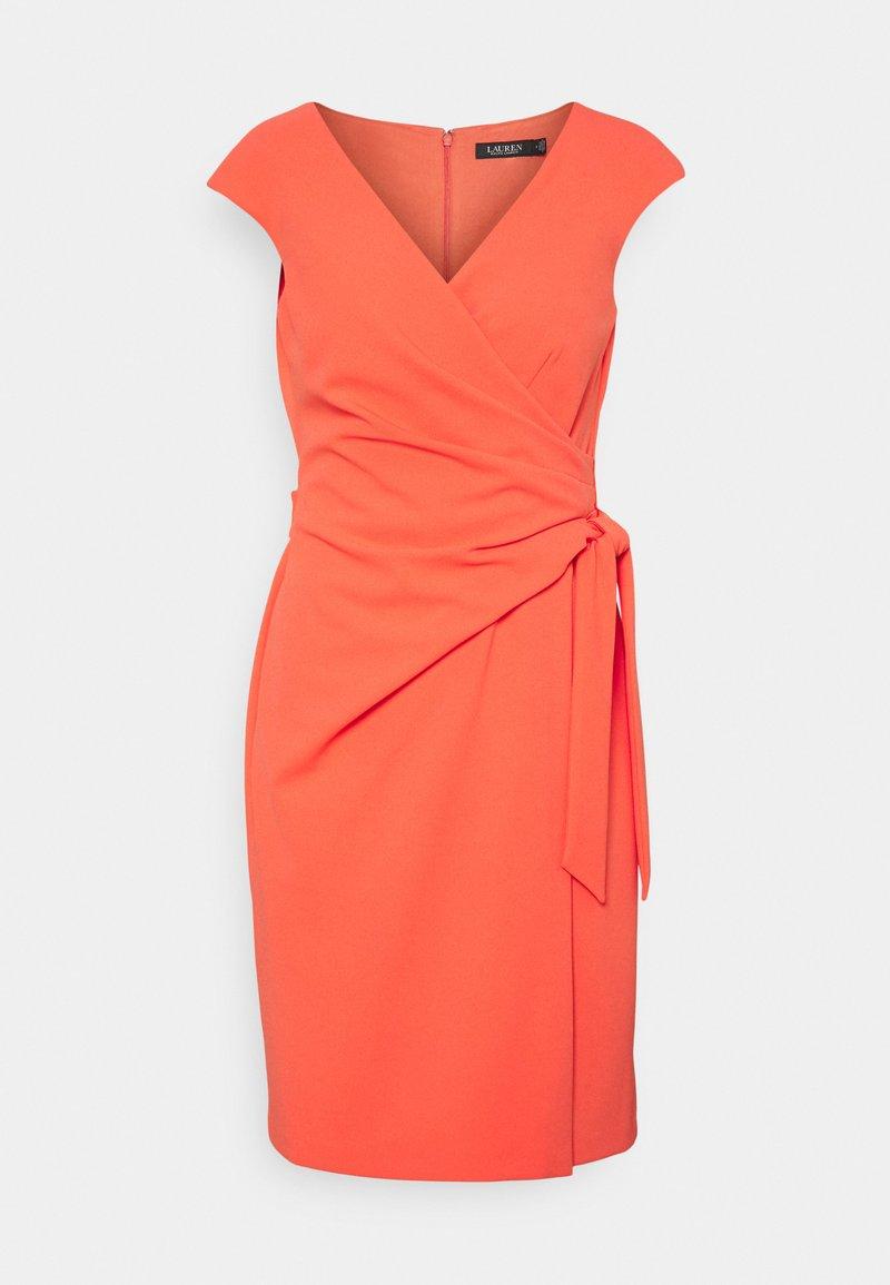 Lauren Ralph Lauren - LUXE TECH CREPE DRESS - Cocktail dress / Party dress - regal coral
