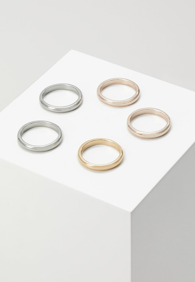 5 PACK - Anillo - silver-coloured/gold-coloured