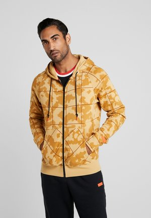 LEBRON JAMES FULL ZIP HOODIE - Zip-up hoodie - club gold/team orange