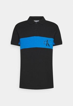 COLOR BLOCK LOGO - Polo shirt - black
