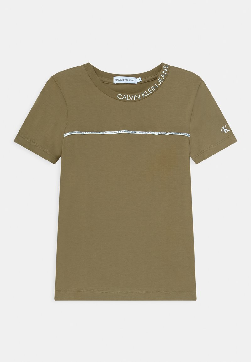 Calvin Klein Jeans - LOGO PIPING FITTED - Print T-shirt - green