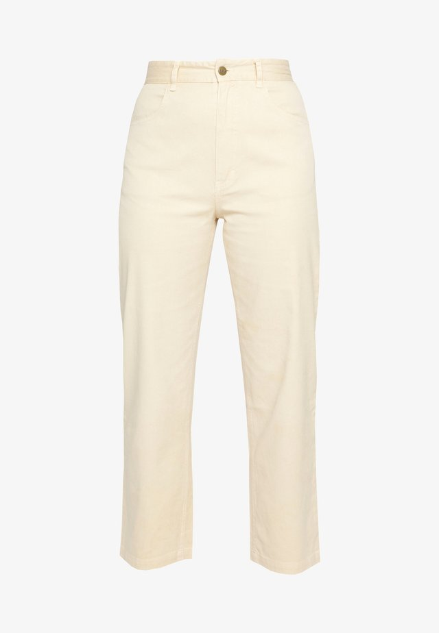 SHELBY - Jeans straight leg - dirty beige