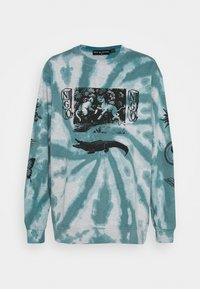 NEW girl ORDER - TIE DYE ETCHED GRAPHIC - Sweatshirt - dark blue - 0