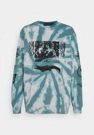 TIE DYE ETCHED GRAPHIC - Sweatshirt - dark blue