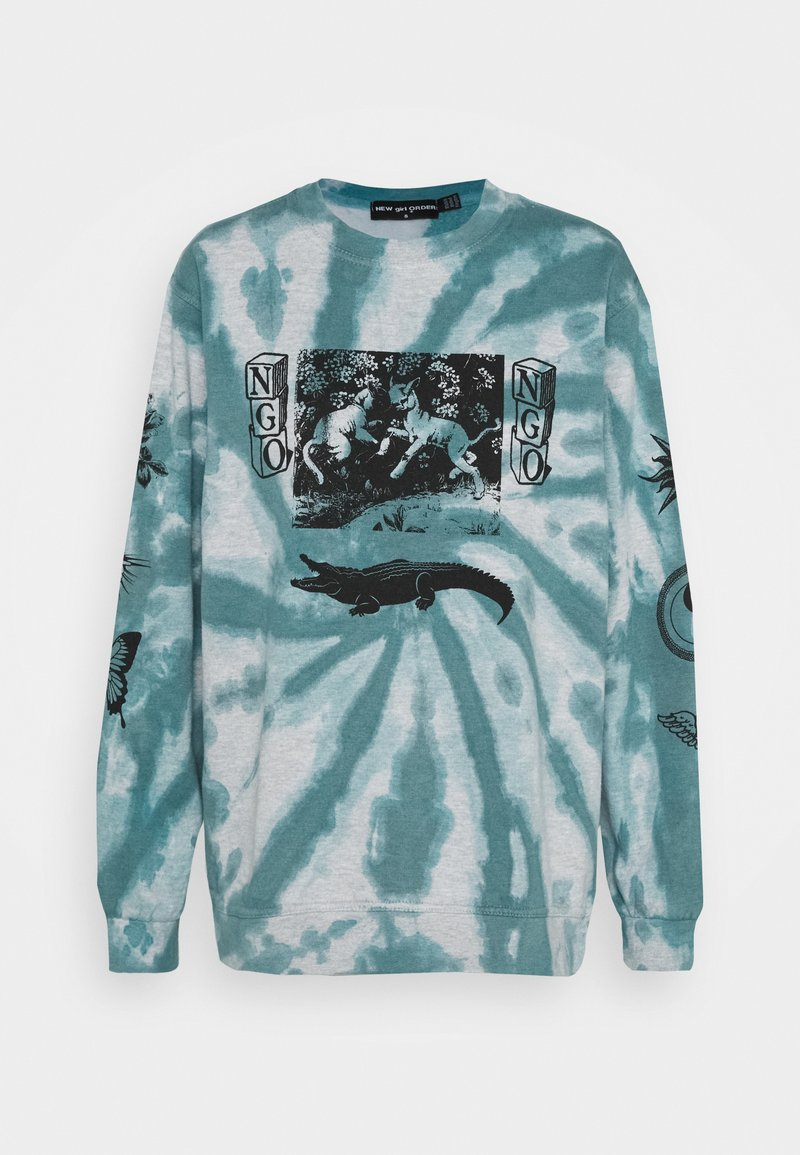 NEW girl ORDER - TIE DYE ETCHED GRAPHIC - Sweatshirt - dark blue