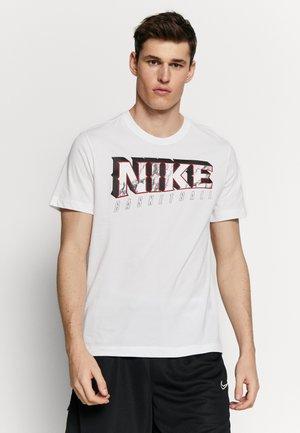 DRY MARBLE TEE - T-shirt med print - white