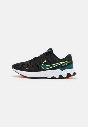 RENEW RIDE 2 - Neutral running shoes - black/lime glow/dark teal green/white