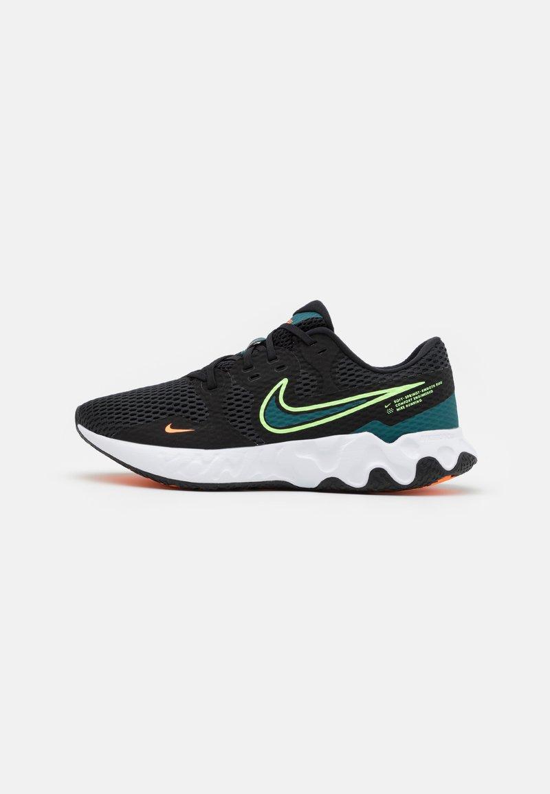 Nike Performance - RENEW RIDE 2 - Neutrala löparskor - black/lime glow/dark teal green/white