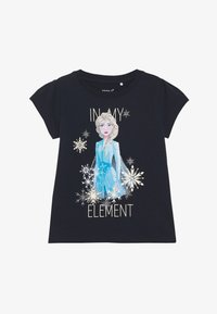 Name it - NKMFROZEN TEA - Print T-shirt - dark sapphire - 2
