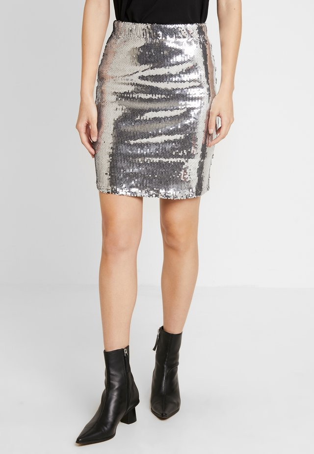 SKIRT MILLY - Mini skirt - silver