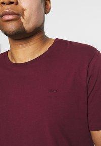 LTB - 2 PACK - Basic T-shirt - bordeaux/olive - 6