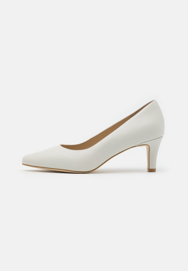 LEATHER COMFORT - Tacones - white