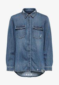 ONLY - Button-down blouse - dark blue denim - 5