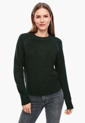 RAGLAN - Jumper - dark green melange