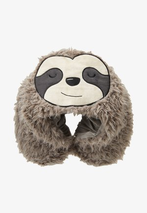TRAVEL PILLOW WITH HOOD - Pozostałe - sloth